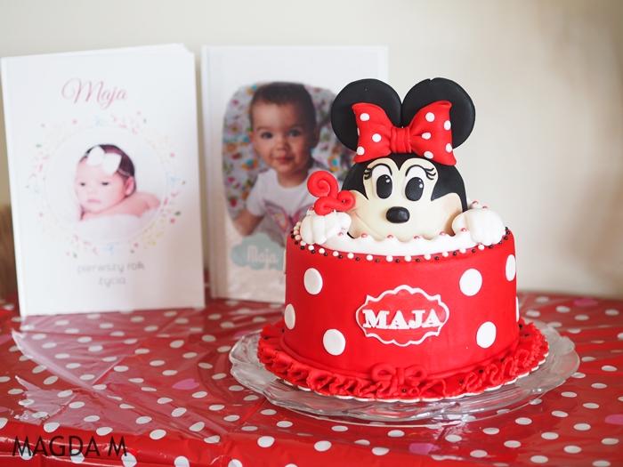 Urodziny z motywem Myszki Minnie + girlanda Minnie DIY