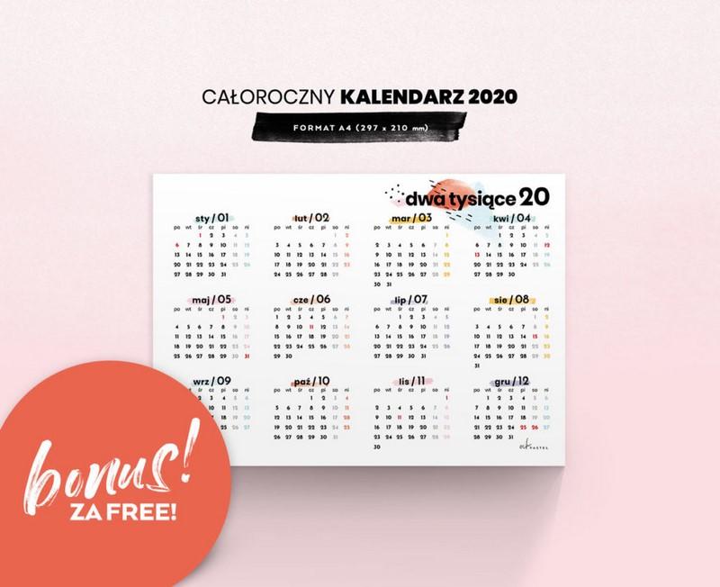 Najpiekniejsze Darmowe Kalendarze 2020 Do Druku Magda M