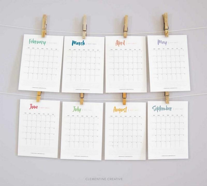 darmowy kalendarz 2020 do druku