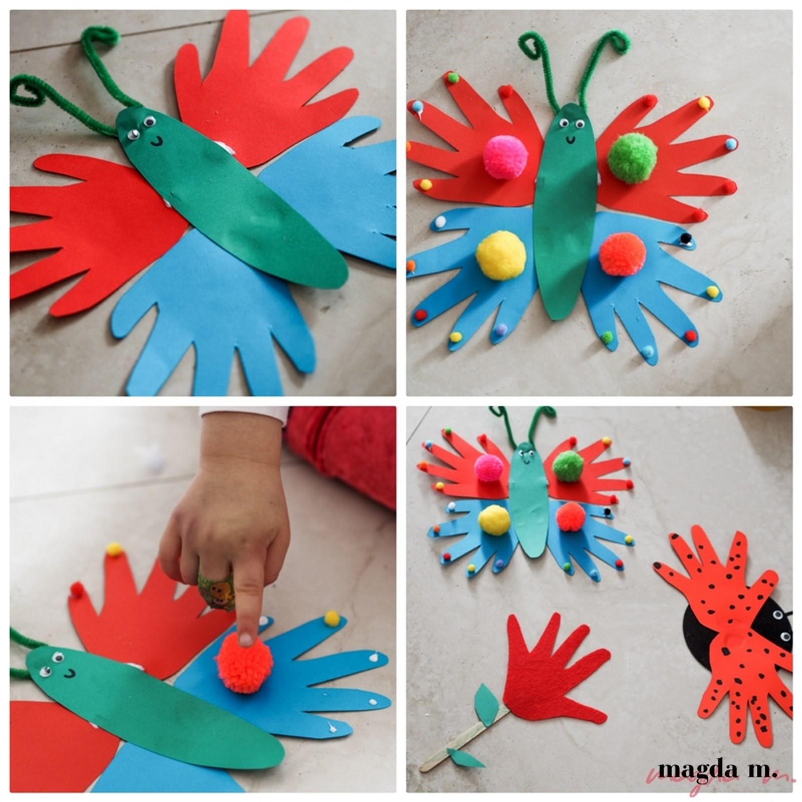 prace dla dzieci motylek