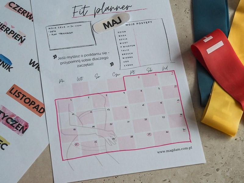 fitness planner do druku