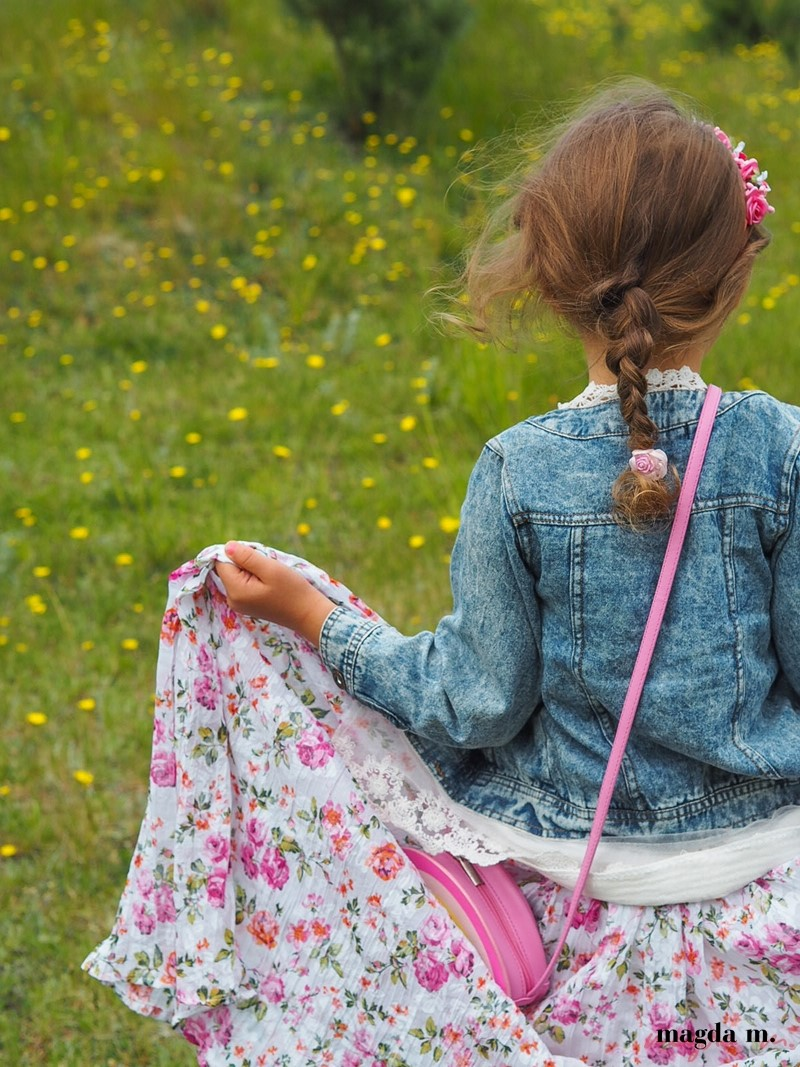dluga spodnica dla dziewczynki