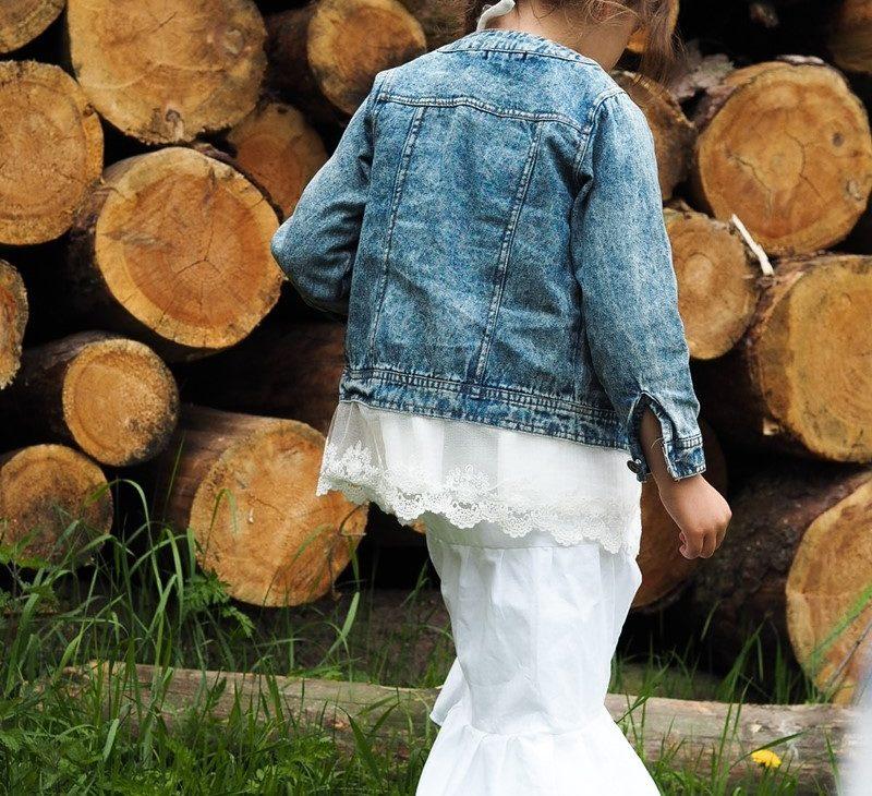 biala dluga spodnica dziewczynka
